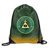 Montona Bill Cipher Gravity Falls White Sackpack