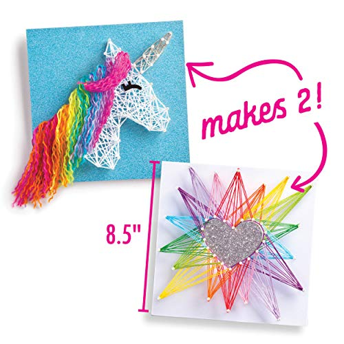 Craft-tastic – String Art Kit – Craft Kit Makes 2 Large String Art Canvases – Unicorn Edition