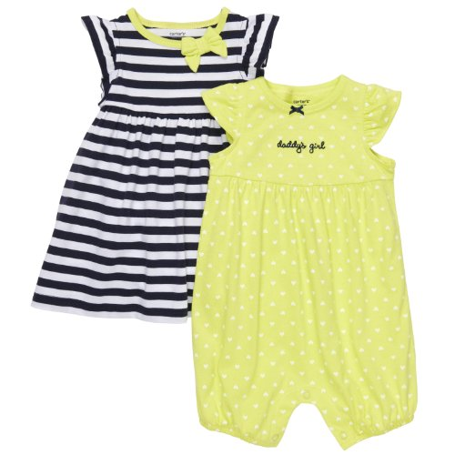 Carters Baby Girls' 2-Pack Romper & Dress Set