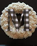"Decorative 9"" Black and White Buffalo plaid"