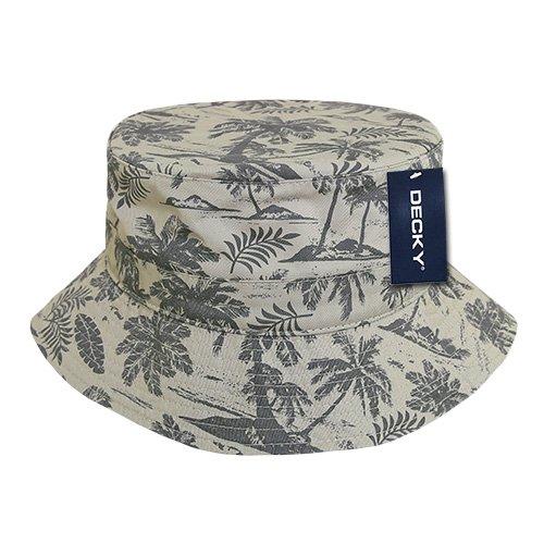 DECKY Tropical Bucket Hat, Stone, Small/Medium ()