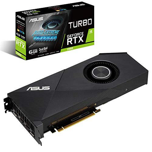 ASUS GeForce RTX 2060 6G Turbo Edition GDDR6 HDMI DP 1.4 (TURBO RTX2060-6G)