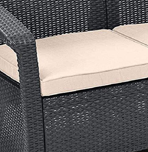 pad champignon,Grey ainsi que le stress Taiwan Canap/é 4 meubles en rotin ext/érieur