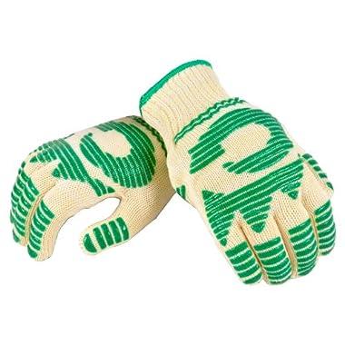 G & F 1684L Dupont Nomex  & Kevlar  Heat Resistant Gloves, Oven Gloves, BBQ Gloves, Large, 1 Pair