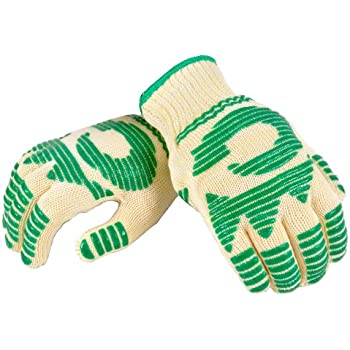 G & F 1684L Dupont Nomex& KevlarHeat Resistant Gloves, Oven Gloves, BBQ Gloves, Large, 1 Pair