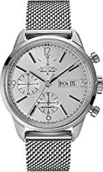 Bulova Men's 'Gemini' Swiss Automatic Stainless Steel Casual Watch, Color:Silver-Toned (Model: 63C116)