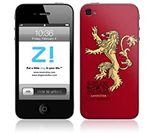 Zing Revolution Game of Thrones Premium Vinyl Adhesive Skin for iPhone 4/4S, Lannister Sigil Image, MS-GOT40133 by mcsharks