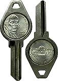 Nickel CoinKey - Blank House Key Design [Kwikset KW1 Schlage SC1] (Kwikset [KW1], Jefferson Nickel (1938-Present))