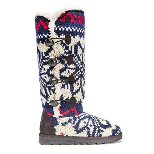 Muk LUKS Women's Felicity White Fashion Boot, Cream, 7 M US Navy
