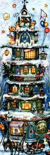 Tall Christmas House German Advent Calendar Christmas Countdown Made in Germany