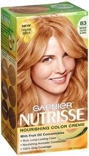 Garnier Nutrisse Haircolor - 83 Cream Soda (Medium Golden Blonde) 1 Each (Pack of 6)