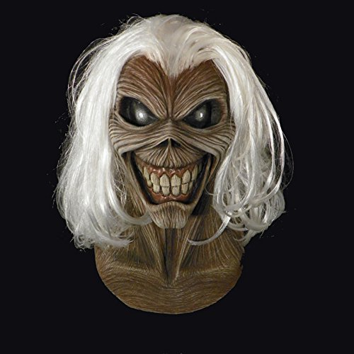 Loftus Trick Or Treat Studios Iron Maiden Killers Full Head Mask, Grey White, One-Size ()