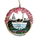 Washington DC Christmas Ornament Monuments Ceramic