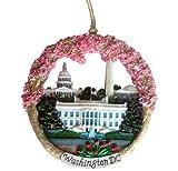 Washington DC Christmas Ornament Monuments Ceramic