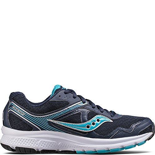 Saucony Women's Cohesion 10 Running Shoe, Navy Blue, 7 Medium US