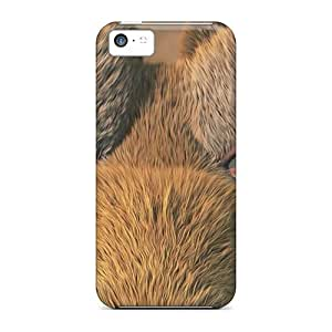 Saraumes Iphone 5c Hybrid Tpu Case Cover Silicon Bumper Scrat Ice Age Cartoon