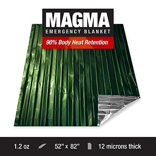 MAGMA-Emergency-Mylar-Survival-Blankets-5-Pack-Olive-Drab-Reflective-Reusable-Thermal-Blanket-to-Maximize-Body-Heat-Retention-Military-Grade-FREE-Camo-Signaling-Mirror