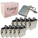 Yuauy 10 Pcs Hiking Emergency Survival Camping Fire Starter Flint Metal Match Lighter