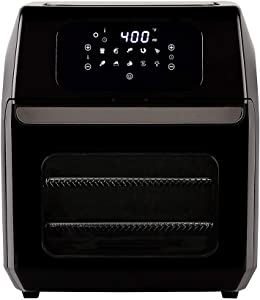 PowerXL Air Fryer Oven 12 QT with 8-in-1 Cooking Presets and LED Digital Touchscreen, Crisp, Bake, Roast, Broil, Reheat and More, 1700 Watts (Black)