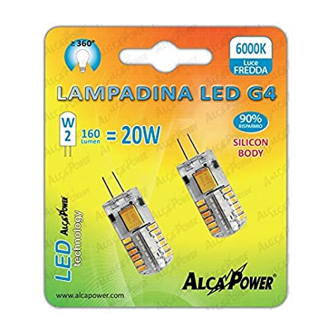 PARENT de 2 bombillas LED, g=4-12 V 2W halógena 20W °