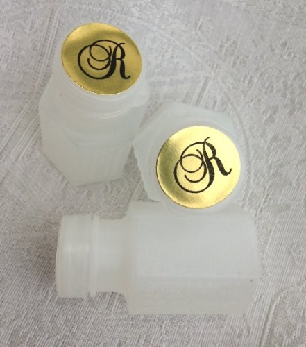 108 Gold Foil Monogram Mini Bubble Toppers for Wedding or Party favor. Put these stickers/labels on the top of bubbles! (Wow! Unique Personalized ()