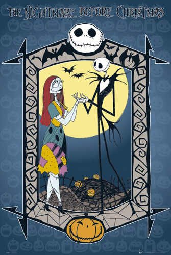 The Nightmare Before Christmas Poster Couple New by Hse