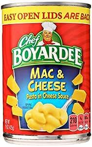 Amazon com : CHEF BOYARDEE Creamy Macaroni and Cheese 15 oz : Packaged Macaroni And Cheese