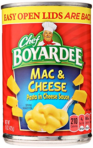 - CHEF BOYARDEE Creamy Macaroni and Cheese, 15 oz