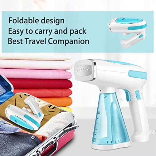 - Steamer for Clothes Mini Portable 1200W Powerful Garment Steamer Clothing Handheld Fabric Steam Iron Wrinkle Remover Cleaner Fast Heat-up Auto-Off 100% Safety High Capacity for Home and Travel