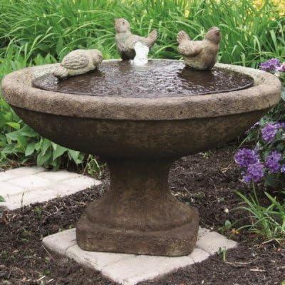 Fuente Oval de pájaros Massarelli tibetano función de agua para ...