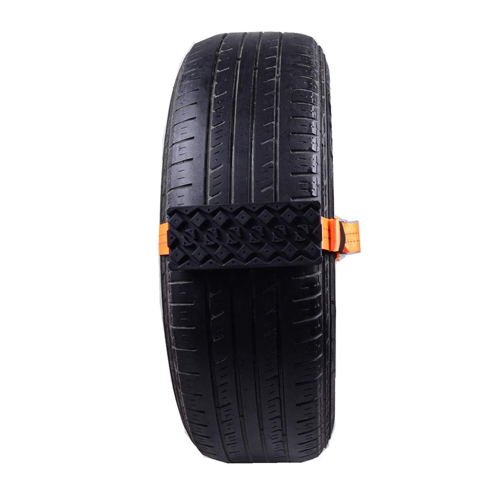 Itlovely 2PCS Tire Chain Strap Snow Chain Rubber Nylon Anti-Skid Wheel Automobile Saloon Car Non-Slip Accessories