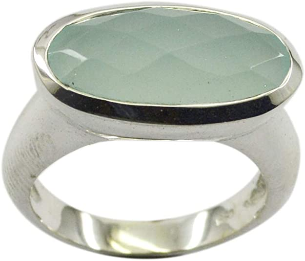Lapis Lazuli Blue Stone Silver Ring India 925 Sterling Silver pulchritudinous Genuine Blue Ring