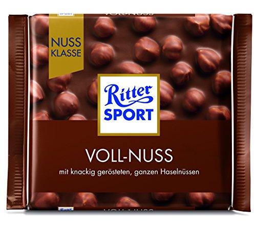 Ritter Sport Nuss Klasse Voll-Nuss Tafelschokolade, 10er Pack (10 x 100 g)