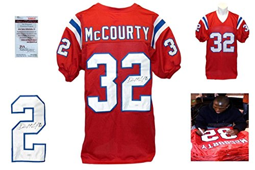 Devin-McCourty-Signed-Custom-Jersey-JSA-Witnessed-Autographed-w-Photo-Red
