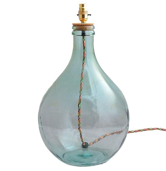 Base de lámpara de botella de cristal Pamplona: Amazon.es: Iluminación