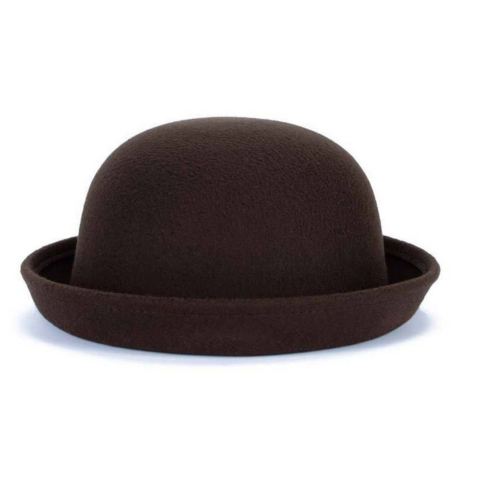 Bowler Hat Fedora Hats Winter Roll up Brim Cloche Derby Hats Woolen Cap at  Amazon Women s Clothing store  1059b7f61597