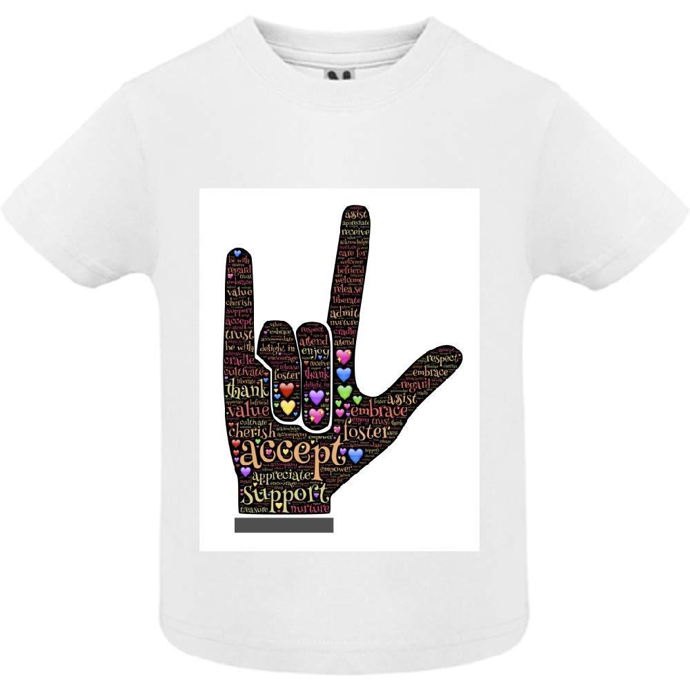 access-mobile-ile-de-re.fr T-Shirt - Manche Courte - Col Rond - Love 1 - Bébé Garçon - Blanc - 12mois