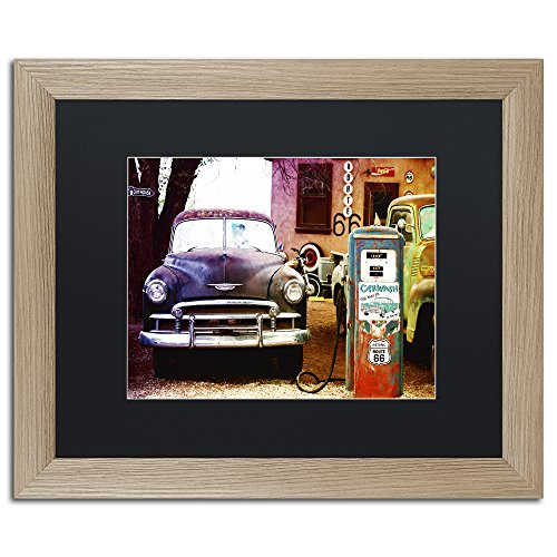 Trademark Fine Art Gas Station Route 66 by Philippe Hugonnard, Black Matte, Birch Frame 16x20-Inch Route 66 Gas Stations