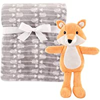 Hudson Baby Plush Blanket with Plush Toy Set, Boy Fox