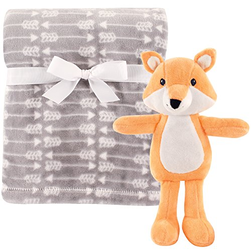 (Hudson Baby Unisex Baby Plush Blanket with Toy, Fox 2 Piece, One Size)