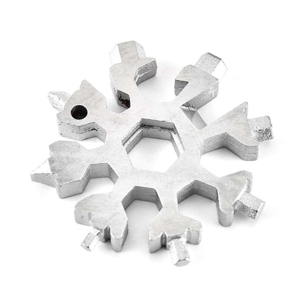 18-in-1 Multi-tool Scheda combinazione compatta esterna portatile del fiocco di neve attrezzo della carta accampa facendo un'escursione attrezzo Sunlera