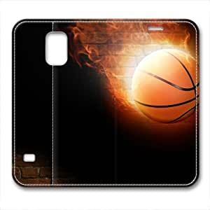 Basketball On Fire Masterpiece Limited Design pc Cover for Samsung Galaxy S5