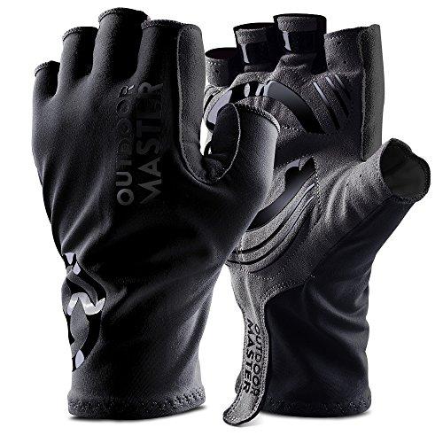 OutdoorMaster Bike Gloves - Fingerless Cycling Gloves Shock Absorbing Pads & Anti-Slip Silica Gel Men, Women & Youth