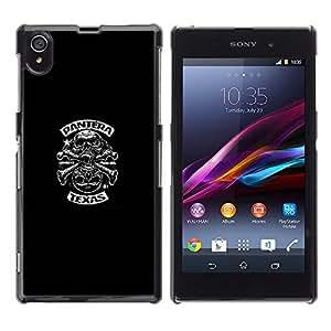 For Sony Xperia Z1 / L39H / C6902 / C6903 / C6906 / C6916 / C6943 Case , Biker Gang Music Decal Rock Heavy - Diseño Patrón Teléfono Caso Cubierta Case Bumper Duro Protección Case Cover Funda