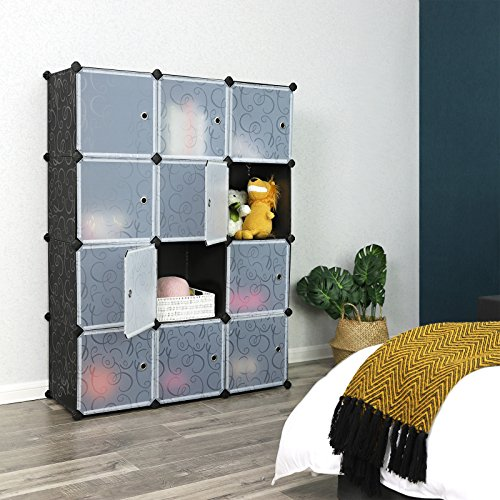 SONGMICS Cube Storage Organizer, 12-Cube Closet Storage