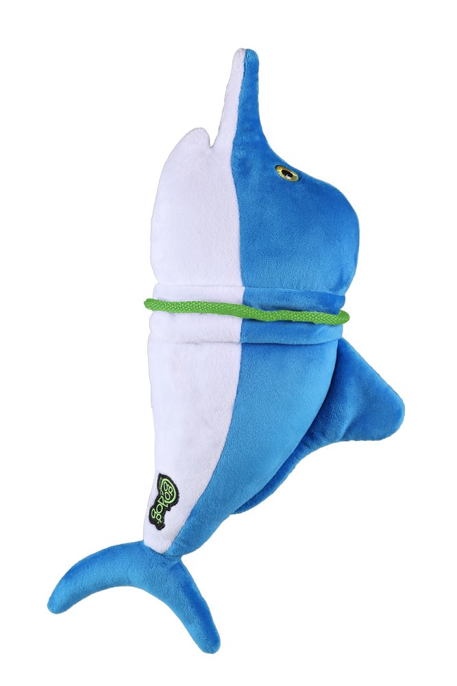 Quaker Pet Products GoDog Ripzzz con Protezione per Cani Grande, Marlin