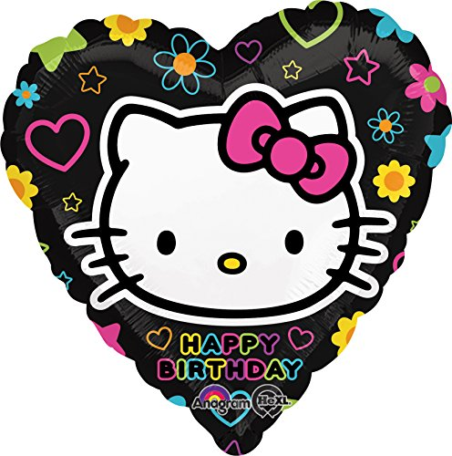 Anagram International Hello Kitty Tween Birthday Foil Balloon Pack, Multicolor
