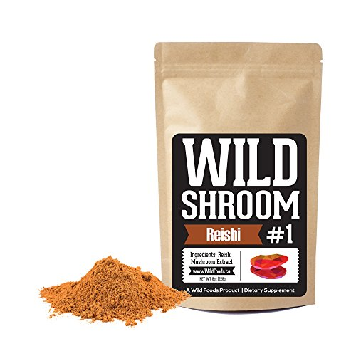Reishi Mushroom Extract 10:1 Superfood Powder by Wild Foods | Fruiting Bodies Only | Adaptogenic Herb for Immune System, Sleep Aid, and Nootropic Mental Performance (Two 8 Ounce)