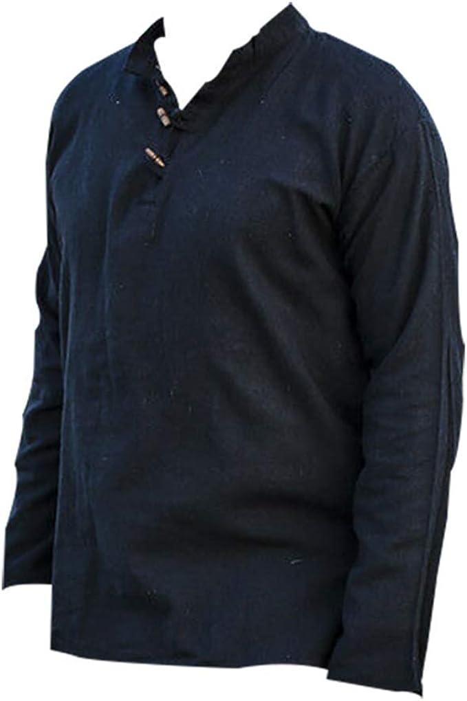 Camisa Medieval renacentista para Hombre, Camisa de ...