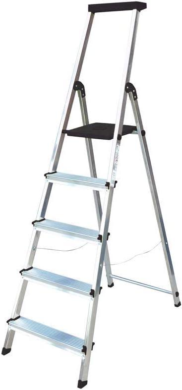 Escalera Rolser Aluminio BriColor 5 Peldaños - Antracita: Amazon.es: Hogar